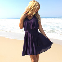 Into The Deep Dress In Navy Blue