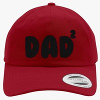 Dad Of 2 Embroidered Cotton Twill Hat