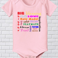 Girls Sister Collage Best Friends Sister Tee New Sibling Bodysuit Little Girls Baby Sister Shirt Love Playmates Hero Role Model 24 2T 3T 4T