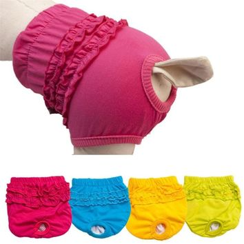 New Qualified New Cute Pet Dog Panty Brief Bitch In Season Sanitary Pants For Girl Female  Levert Dropship dig6225