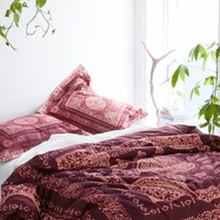Magical Thinking Kami Woodblock Comforter- Purple
