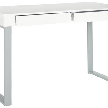 Barton Desk White & Grey