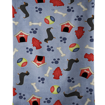 Dachshund Dog House Collection Kitchen Towel BB3882KTWL