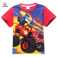 Blaze Monster Machines Tees Clothing Children TShirts Baby Boys T-shirts Kids Children t shirt Infantis vetement Summer Clothing
