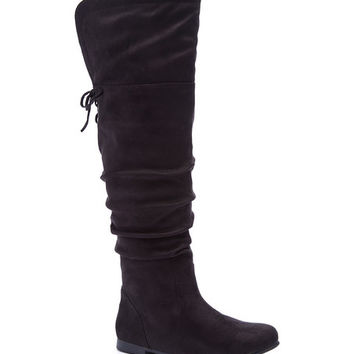 Wild Diva Black Starcy Over-the-Knee Boot | zulily