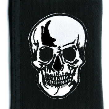 Death Skull Tri-fold Wallet with Chain Occult Clothing