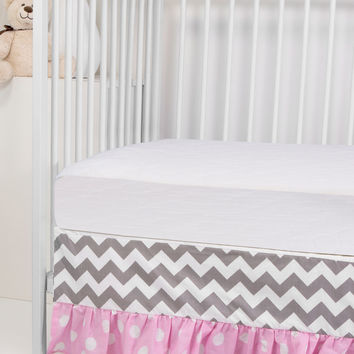 Rockingham Road Ruffled Crib Skirt - Pink