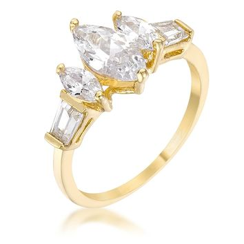 WildKlass Marquise Triplet Engagement Ring