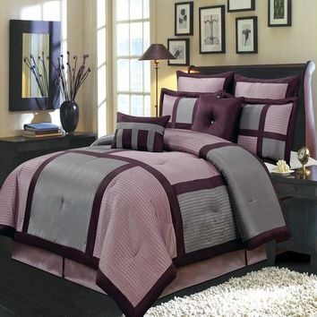 PURPLE Morgan Luxury Comforter Set