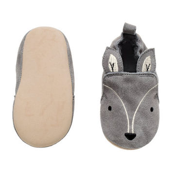 Suede Slippers - from H&M