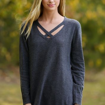 Neutral Zone Charcoal Grey Sweater