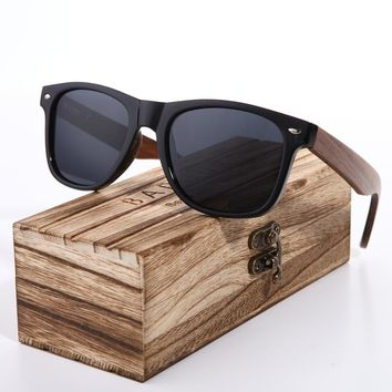 BARCUR 2018 Black Walnut Sunglasses Wood Polarized Sunglasses Mens Glasses UV 400 Protection Eyewear in Wooden Original Box