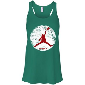 Donald Trump Jordan Air Just Grab It Grab Bella + Canvas Flowy Racerback Tank