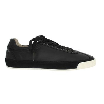 Dolce & Gabbana Black Leather Logo Sneakers Shoes