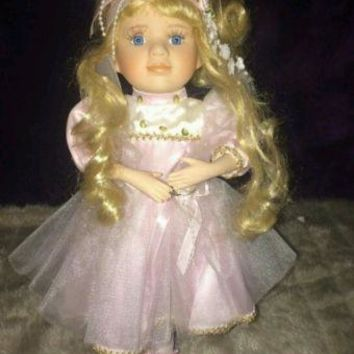 Collectible Porcelain Ballerina Doll