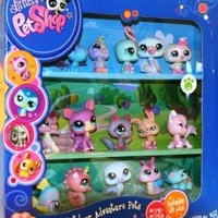 Littlest Pet Shop Exclusive Outdoor Adventure Collectors Set #2 of 15 Pets Includes Swan, Owl, Snail, Deer More!