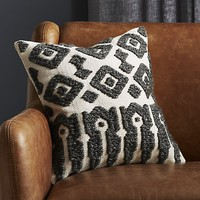 "16"" calisto grey and white pillow"