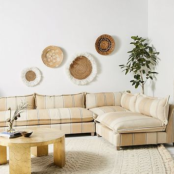 Peruvian Stripe Tassa Three-Piece L-Shaped Sectional