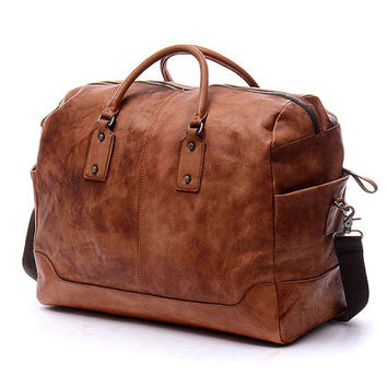 19 Men S Travel Bag Leather Diaper Luggage Lapt