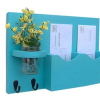 Mail Key Holder - Mail Organizer - Mail Holder -  Key Hooks