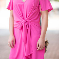 Beautiful Memories Dress, Hot Pink