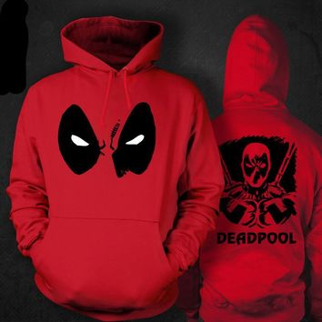 deadpool hoodie men deadpool costume hoodie adult deadpool costume adulte red and black hood coat cartoon clothing cosplay