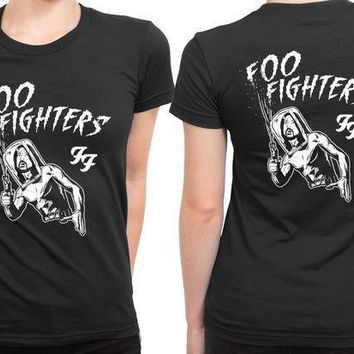 Foo Fighter Old People Shoot Out 2 Sided Womens T Shirt