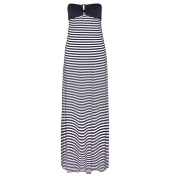 heidi klein - sete bandeau striped-jersey maxi dress