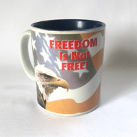 Freedom Is Not Free Coffee Mug Cup American Veterans Disabled for Life Memorial