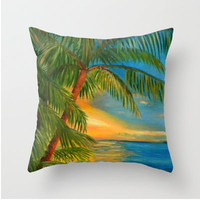 "Sunset ""Reflections"" Key West - Home Decor Pillow"