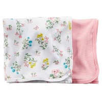 Carter's 2-pk. Floral & Striped Swaddles - Baby Girl (Pink)