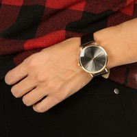 Sale-black Quilted Band Watch