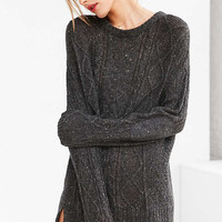 BDG Cable High/Low Crew Neck Sweater | Urban Outfitters