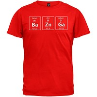 Bazinga Periodic Table Red T-Shirt