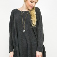 Dropped Shoulder Knit Sweater