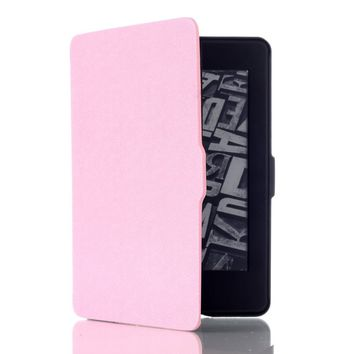 DHZ SmartShell Case For Kindle Paperwhite - The Lightest Pu Leather Cover for All-New Amazon Kindle Paperwhite (Fits All versions: 2012,2013,2014,and 2015,2016 New 300 PPI) Pink