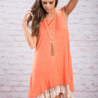 For Your Love Only Dress, Tangerine