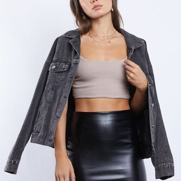 Pia Faux Leather Mini Skirt
