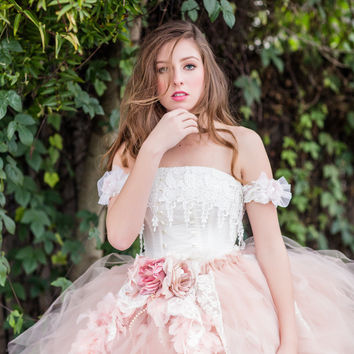 Blush Tutu Skirt and Corset-photography-bridal-prom-Kim