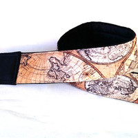 Vintage Style World Map Camera Strap. Man gift. Man Camera Strap