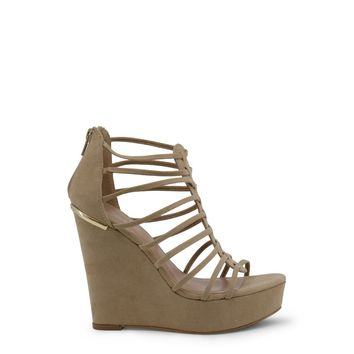 Blu Byblos Brown Rear Zip Wedges