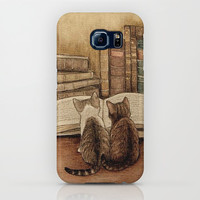 Kittens Reading A Book iPhone Case by digitaleffects