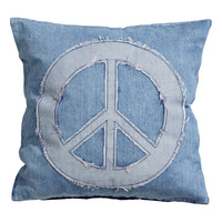 H&M - Denim Cushion Cover - Denim blue