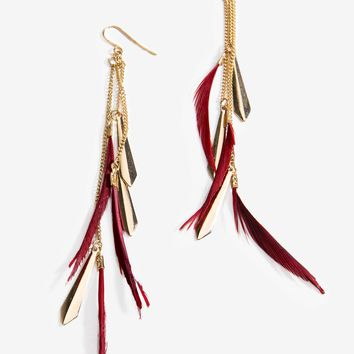 Featherly Chip Drop Earring