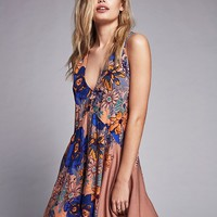 Free People Back Yard Party Printed Tunic
