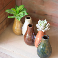 Connected Ceramic Bud Vases