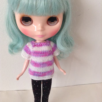Knit Blythe top, Blythe Top, Knit Doll Clothes, Doll Top, Knit Doll Top, Knit Blythe Top, Knit Blythe Clothes
