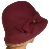 Sakkas May Vintage Style Wool Cloche Bell Hat