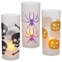 Bulk Glittery Halloween Candleholders with LED Tealight Candles at DollarTree.com