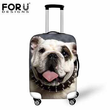 FORUDESIGNS Dust Waterproof Luggage Protective Cover Funny 3D Dog Animal Elastic Rain Covers For 18-30 Inch Trolley Case Protect